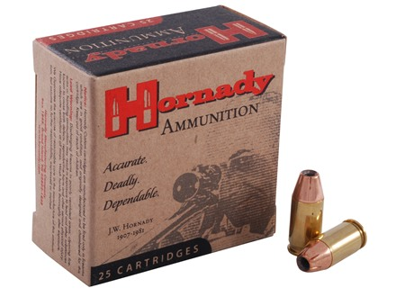 Hornady Custom Ammunition 380 ACP 90 Grain XTP Jacketed Hollow Point Box of 25