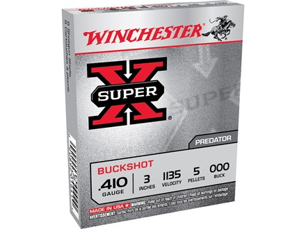 Winchester Super-X Ammunition 410 Bore 3&quot; 000 Buckshot 5 Pellets Box of 5