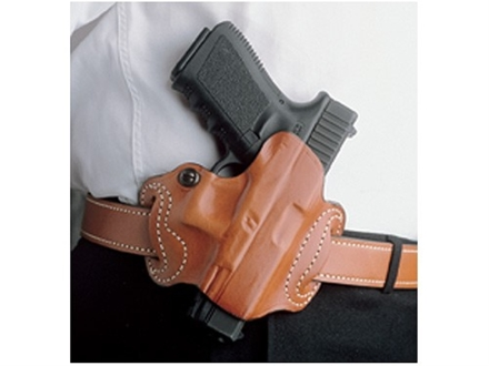 DeSantis Mini Slide Belt Holster Right Hand Glock 17, 19, 22, 23, 26, 27, 31, 32, 33, 36 Leather Tan