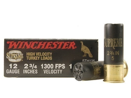 "Winchester Double X Turkey Ammunition 12 Gauge 2-3/4"" 1-1/2 oz #5 Copper Plated Shot"