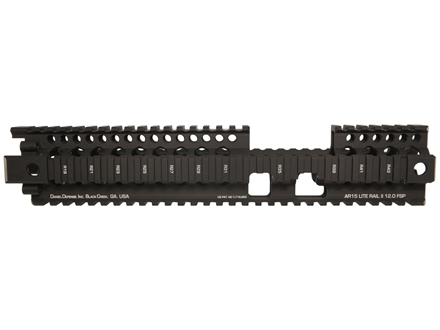 Daniel Defense Lite Rail 12.0 FSP Free Float Tube Handguard Quad Rail AR-15 Extended Carbine Length Aluminum Black