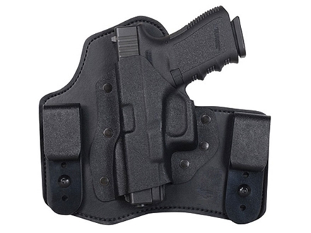 "DeSantis Intruder Inside the Waistband Holster Left Hand Springfield XDM 4.5"" with Crimson Trace CRM201 Kydex and Leather Black"
