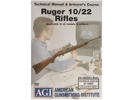 American Gunsmithing Institute (AGI) Technical Manual &amp; Armorer&#39;s Course Video &quot;Ruger 10/22 Rifles&quot; DVD