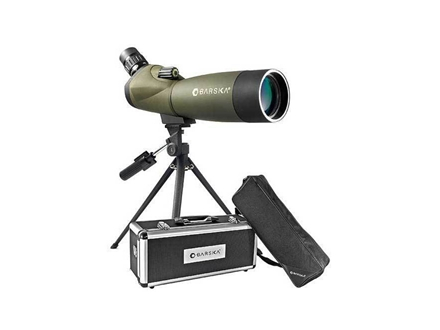 Barska Blackhawk Spotting Scope 20-60x 60mm Angled Body with Tripod and Hard Case Rubber Armored Green