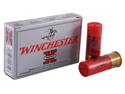 Winchester Super-X Ammunition 12 Gauge 2-3/4&quot; Buffered #1 Buckshot 16 Pellets Box of 5