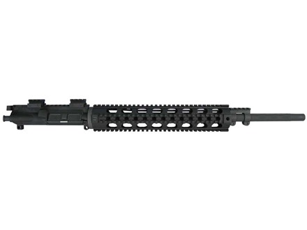Yankee Hill AR-15 Lightweight Rifle Upper Assembly 5.56x45mm NATO 1 in 7&quot; Twist 20&quot; Fluted Barrel Chrome Lined with Quad Rail Free Float Handguard, Mini Scope Riser Mounts