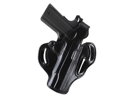 DeSantis Thumb Break Scabbard Belt Holster Right Hand S&amp;W N-Frame 4&quot; Barrel Suede Lined Leather Black