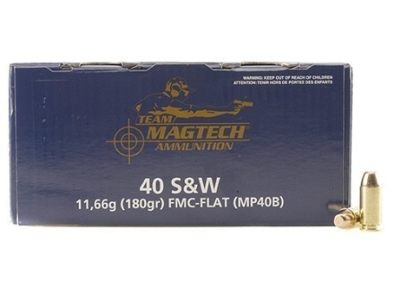 Magtech Shootin' Size Ammunition 40 S&W 180 Grain Full Metal Jacket Box of 250