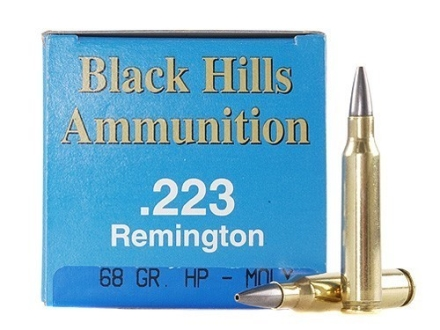 Black Hills Remanufactured Ammunition 223 Remington 68 Grain Match Hollow Point Moly Box of 50