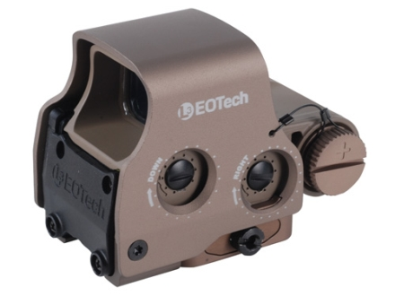 EOTech EXPS3-2 Holographic Weapon Sight 65 MOA Circle with (2) 1 MOA Dots Reticle Tan CR123 Battery
