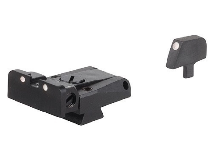 LPA SPR Sight Set 1911 Government with Narrow Tenon Front Sight Steel 3-Dot