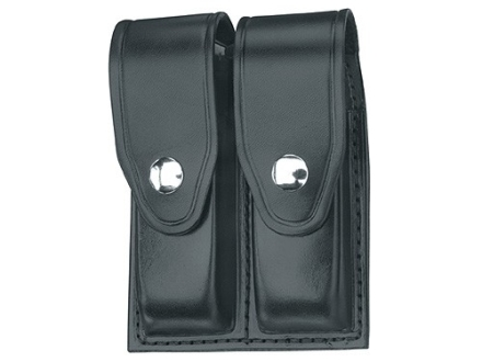 Gould &amp; Goodrich B627 Double Magazine Pouch Glock 17, 19, 22, 23, 31, 32, 34, 35, 36, HK USP 9 Compact, USP 357 Compact, USP 40 Compact, USP 45 Compact, USP 9, USP 40 Leather Black