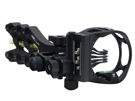 "Apex Gear Game Changer Bone Collector 5 Light 5-Pin Bow Sight .019"" Diameter Pins Aluminum Black"