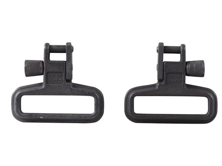 "GrovTec Mil-Force Locking Sling Swivels 1-1/4"" Steel Black (1 Pair)"