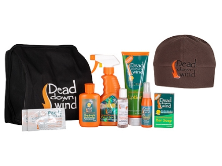 Dead Down Wind Custom Scent Elimination Kit with Fleece Skull Cap Polyester Brown
