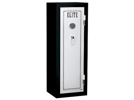 Stack-On Full Sized Fire Resistant Executive Safe with Electronic Lock and 4 Shelves Black/Silver