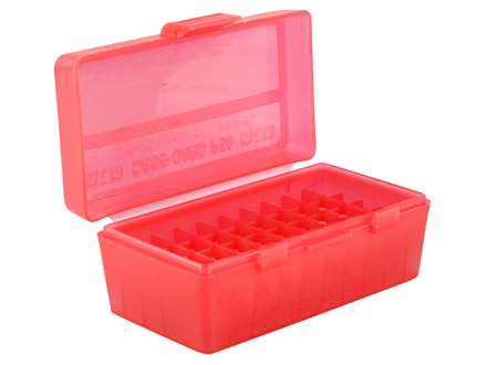 MTM Flip-Top Ammo Box 38 Special, 357 Magnum 50-Round Plastic