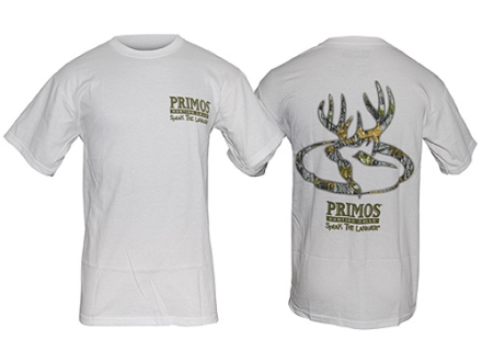 Primos Men&#39;s Deer T-Shirt Short Sleeve Cotton