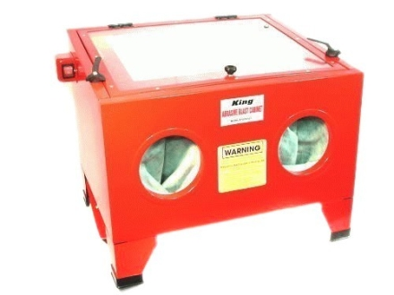 King Combination Tabletop Sandblasting, Beadblasting Cabinet