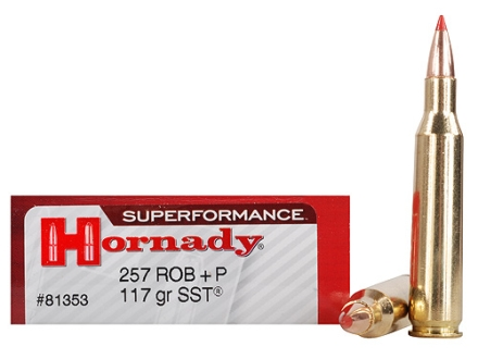 Hornady SUPERFORMANCE Ammunition 257 Roberts +P 117 Grain SST Box of 20