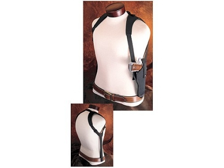 Hunter 1290-2 Ruffstuff Double Shoulder Harness Right Hand Converts Ruffstuff Belt Holster to Shoulder Carry Nylon Black