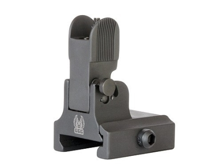 GG&G Flip-Up Front Sight with Locking Detent Gas Block Height AR-10 Steel Matte
