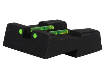 HIVIZ Rear Sight S&W 1911 All Models (Except DK Models) Steel Fiber Optic Green