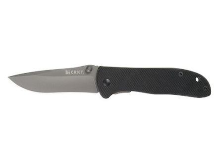 "CRKT Drifter Folding Knife 2-7/8"" 8Cr14MoV Stainless Steel Blade G-10 Handle Black"