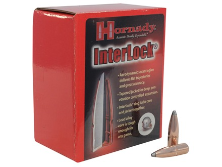 Hornady InterLock Bullets 8mm (323 Diameter) 195 Grain Spire Point Box of 100