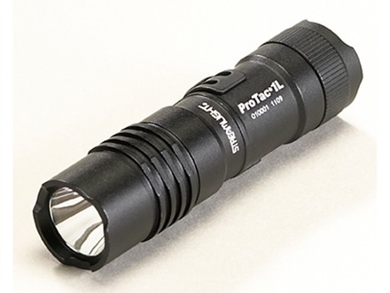 Streamlight ProTac 1L Tactical Flashlight LED Bulb with Hi/Lo and Strobe Includes Pocket Clip, and Holster Aluminum Black