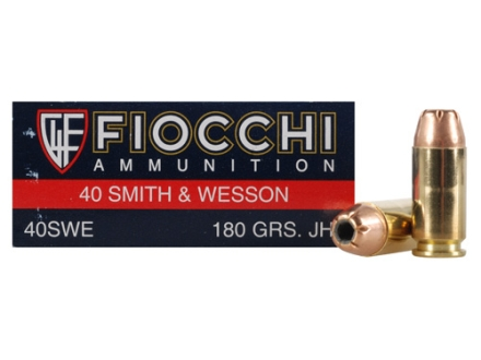 Fiocchi Shooting Dynamics Ammunition 40 S&amp;W 180 Grain Jacketed Hollow Point Box of 50