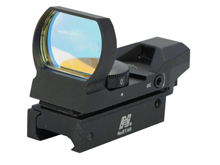 NcStar Tactical Reflex Red Dot Sight (Circle Crosshair with 4 MOA Dot, Circle with 4 MOA Dot, 1 MOA Dot, Crosshair with 4 MOA Dot) Matte