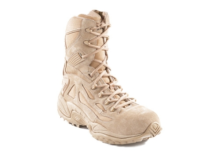 "Converse Rapid Response 8"" Tactical Boots Suede and Ballistic Nylon Side Zip Composite Toe Uninsulated Desert Tan"