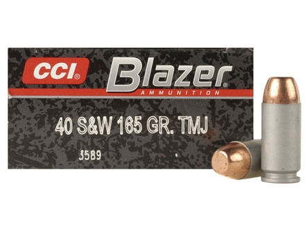 CCI Blazer Ammunition 40 S&W 165 Grain Total Metal Jacket Box of 50