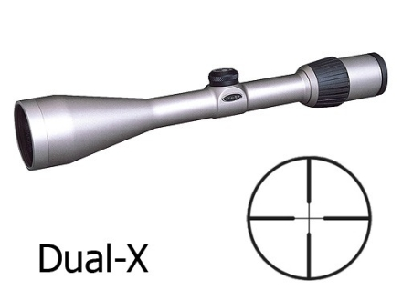 Weaver Grand Slam Rifle Scope 3.5-10x 50mm Dual-X Reticle Silver