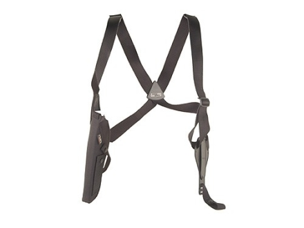 "Uncle Mike's Sidekick Vertical Shoulder Holster Left Hand  Large Frame Semi-Automatic 4.5"" to 5"" Barrel Nylon Black"