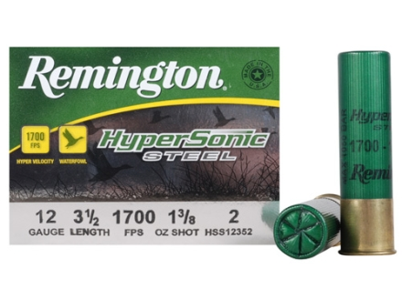 "Remington HyperSonic Ammunition 12 Gauge 3-1/2"" 1-3/8 oz #2 Non-Toxic Shot Box of 25"