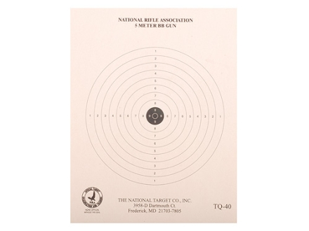NRA Official BB Gun Training Target TQ-40 5-Meter Paper Package of 100