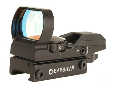 Barska Reflex Red Dot Sight 4-Pattern Reticle (10 MOA Circle with 2 MOA Dot, Crosshair, 10 MOA Dot, 3 MOA Dot) with Integral Weaver-Style Mount Matte