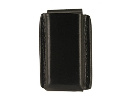 Galco Quick Single Magazine Pouch 40 S&amp;W, 9mm Double Stack Polymer Magazines Leather Black