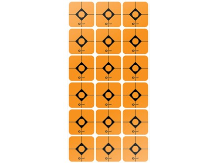 "Caldwell Shooting Squares 1"" Pack of 12 Sheets 18 Squares per Sheet Orange"