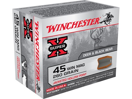 Winchester Super-X Ammunition 45 Winchester Magnum 150 Grain Power Point Box of 20