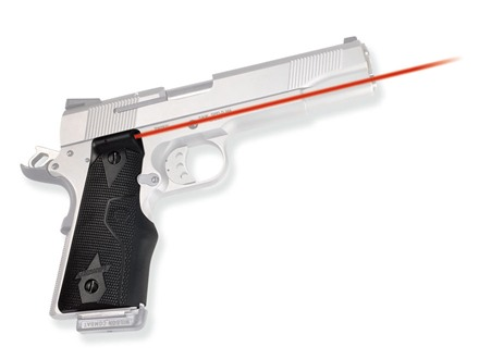 Crimson Trace Lasergrips 1911 Government, Commander Overmolded Rubber Wrap-Around Black