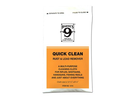 Hoppe&#39;s #9 Quick Clean Rust and Lead Remover Gun Cleaning Cloth