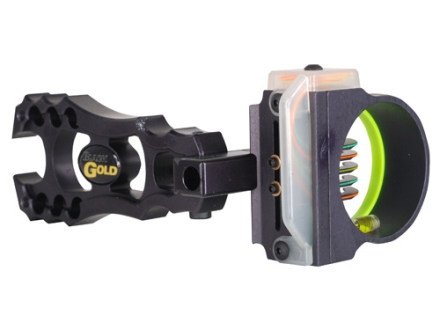 "Montana Black Gold Flashpoint Rush 5-Pin Bow Sight .019"" Pin Diameter Right Hand Aluminum Black"