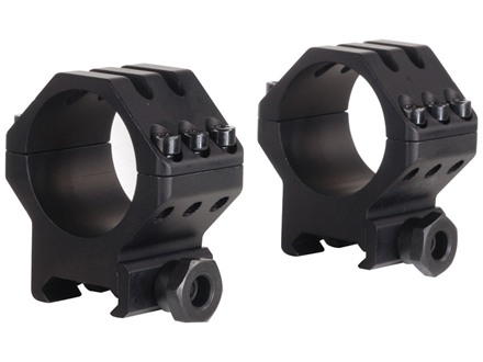Weaver 30mm Tactical 6-Hole Picatinny-Style Rings Matte Medium