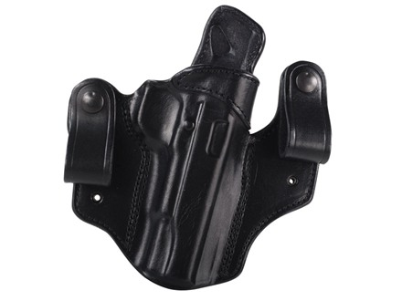 DeSantis Mad Max Tuckable Inside the Waistband Holster Right Hand 1911 Government, Commander Leather Black