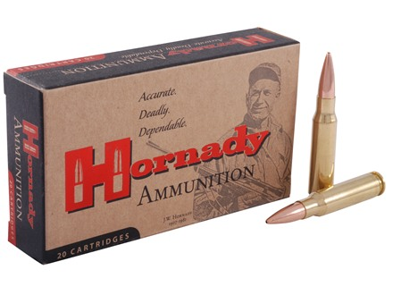 Hornady Match Ammunition 308 Winchester 168 Grain Hollow Point Boat Tail Box of 20