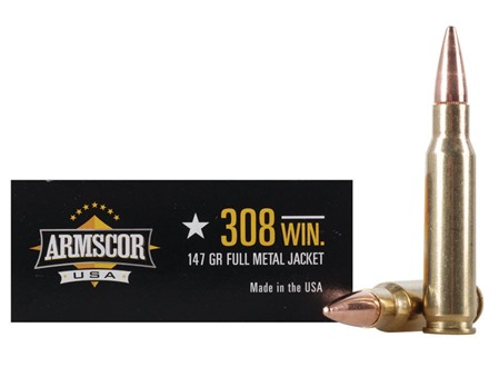 Armscor Ammunition 308 Winchester 147 Grain Full Metal Jacket Box of 20