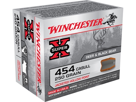 Winchester Super-X Ammunition 454 Casull 250 Grain Jacketed Hollow Point Box of 20
